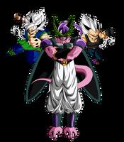 Goku ssj9 y Vegeta ssj9 VS Cellbuzer by ChronoFz