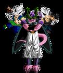 Goku ssj9 y Vegeta ssj9 VS Cellbuzer