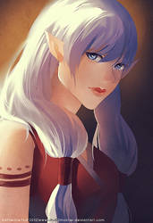 tribal elf girl by chuwenjie