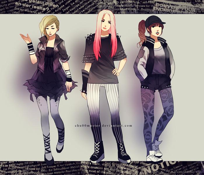 B and W fashion by chuwenjie
