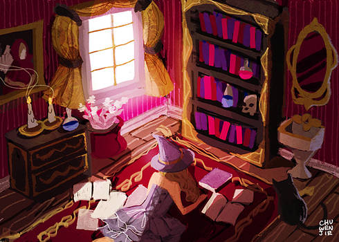 the witch's bedroom