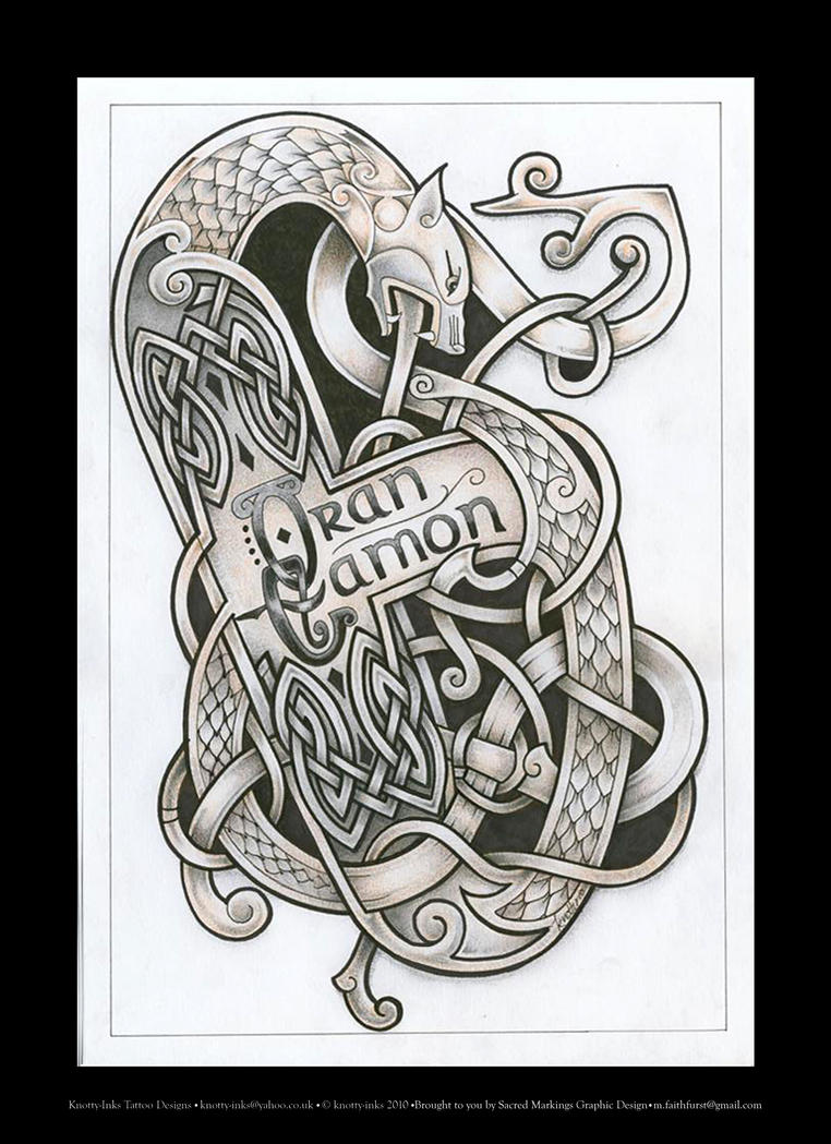 celtic beast tattoo design by tattoo design on deviantart. Black Bedroom Furniture Sets. Home Design Ideas