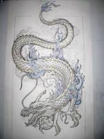Dragon tattoo design by Tattoo-Design