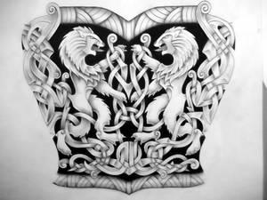 Celtic Lion  tattoo design
