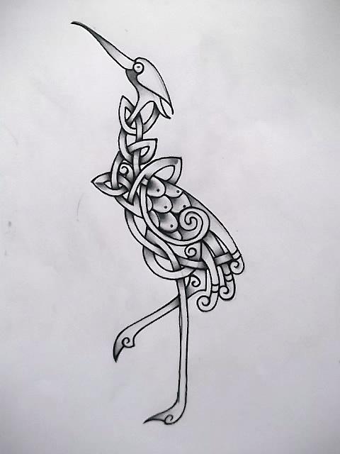 celtic crane tattoo wip by tattoo design on deviantart. Black Bedroom Furniture Sets. Home Design Ideas