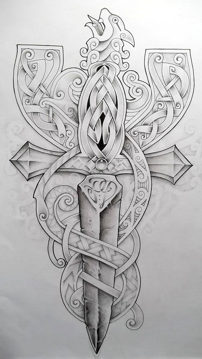 Celtic cross2 by tattoo design on deviantart for Celtic cross with roses tattoo designs