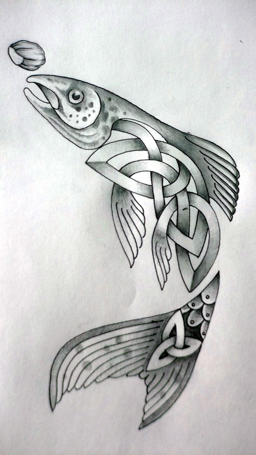 celtic fish by tattoo design on deviantart. Black Bedroom Furniture Sets. Home Design Ideas
