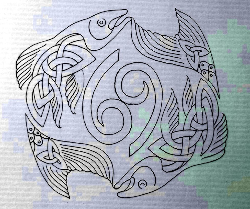 celtic fish pisces cancer by tattoo design on deviantart. Black Bedroom Furniture Sets. Home Design Ideas