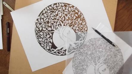tree work in progress 2 by Tattoo-Design