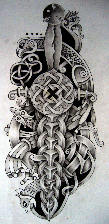 Celtic Dagger And Bird By Tattoo Design On Deviantart