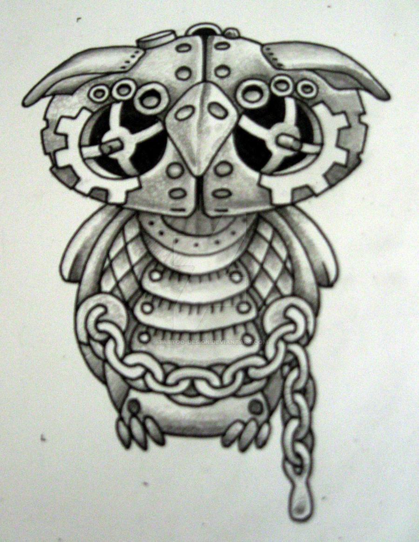 Steam Punk Owl Bold By Tattoo Design On DeviantArt