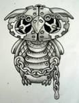 Steam punk Owl Bold