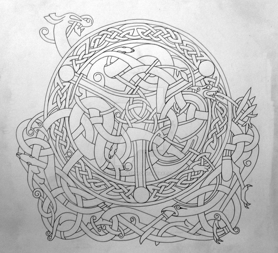 celtic blend outline by tattoo design on deviantart. Black Bedroom Furniture Sets. Home Design Ideas
