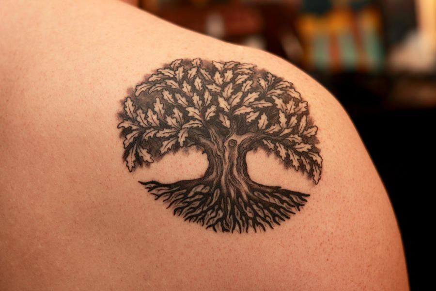 ab5d4dfe333a5 Pictures of Oak Tree Tattoos For Men - #rock-cafe