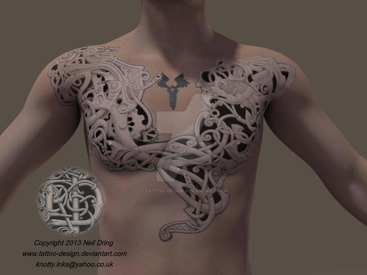 Celtic front view by Tattoo-Design