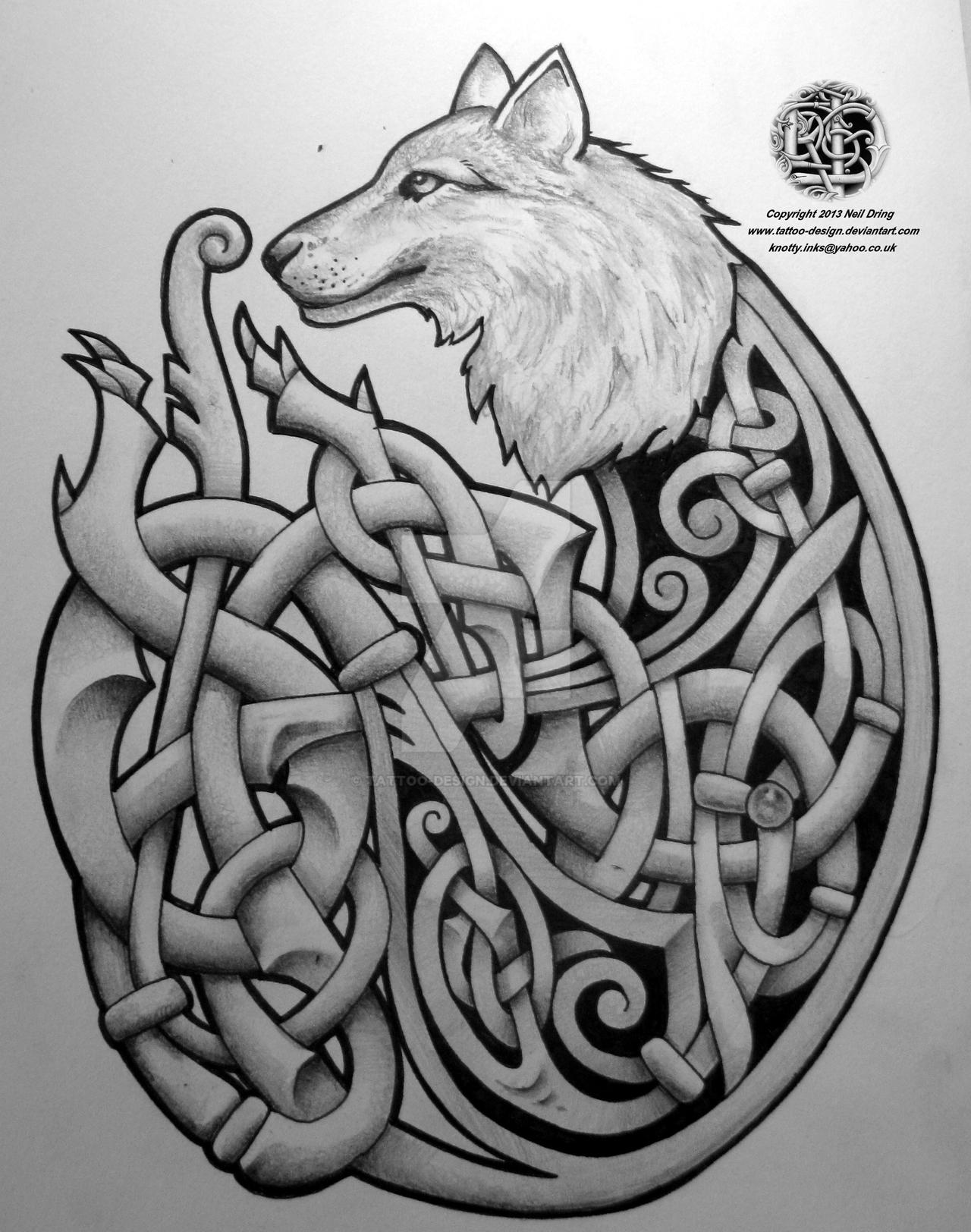 celtic wolf by tattoo design on deviantart. Black Bedroom Furniture Sets. Home Design Ideas