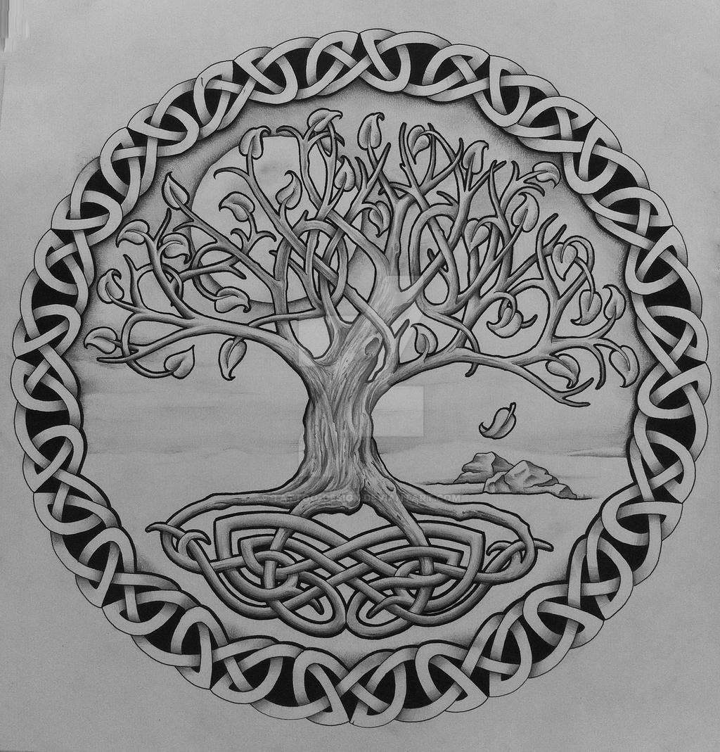 Tree Of Life Tattoo With Heart Roots: Tree Of Life With Rocks By Tattoo-Design On DeviantArt