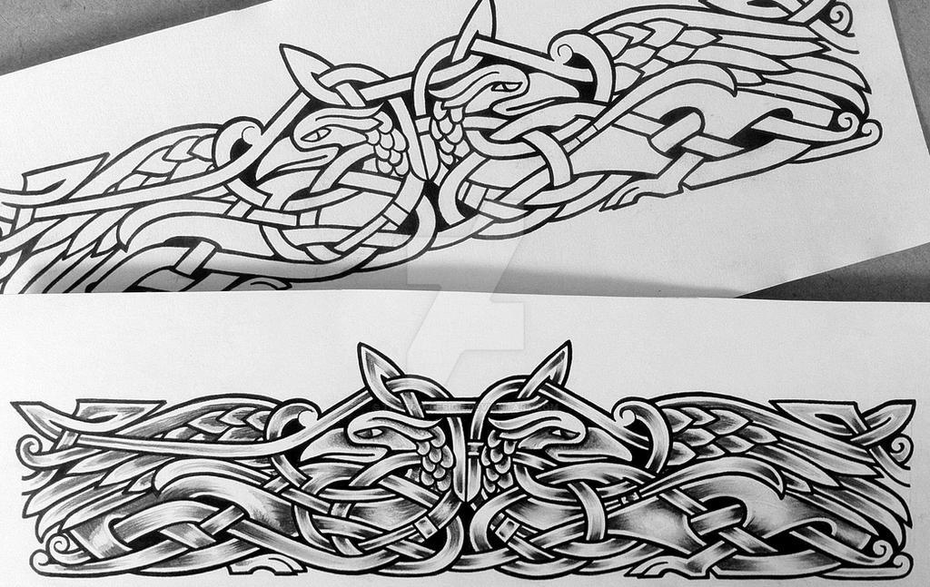 two ravens armband by tattoo design on deviantart. Black Bedroom Furniture Sets. Home Design Ideas
