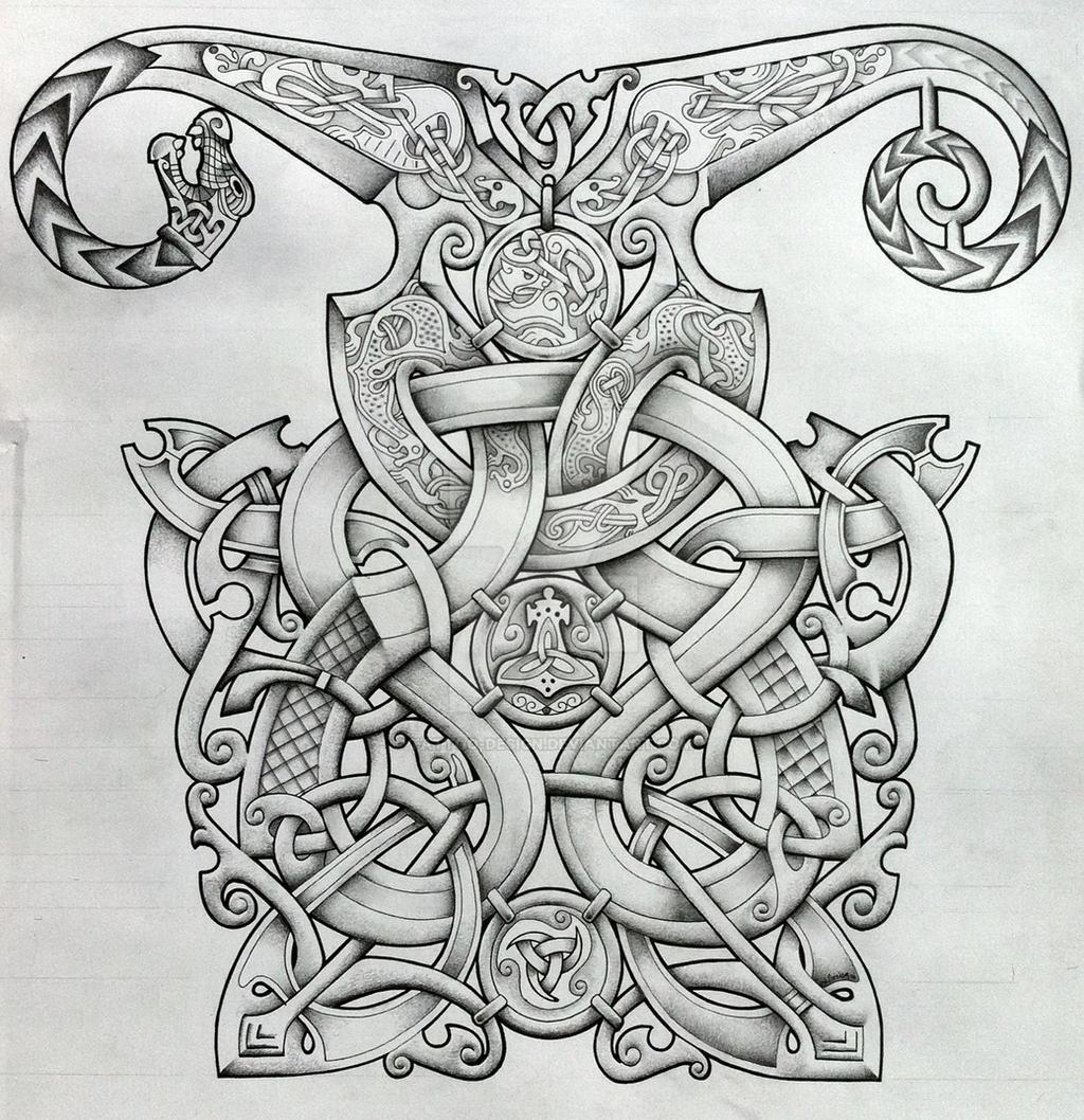 viking and oseberg influenced knotwork design by tattoo design on deviantart. Black Bedroom Furniture Sets. Home Design Ideas