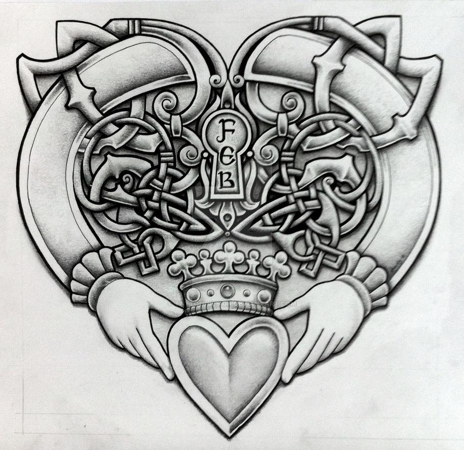 celtic claddagh by tattoo design on deviantart. Black Bedroom Furniture Sets. Home Design Ideas