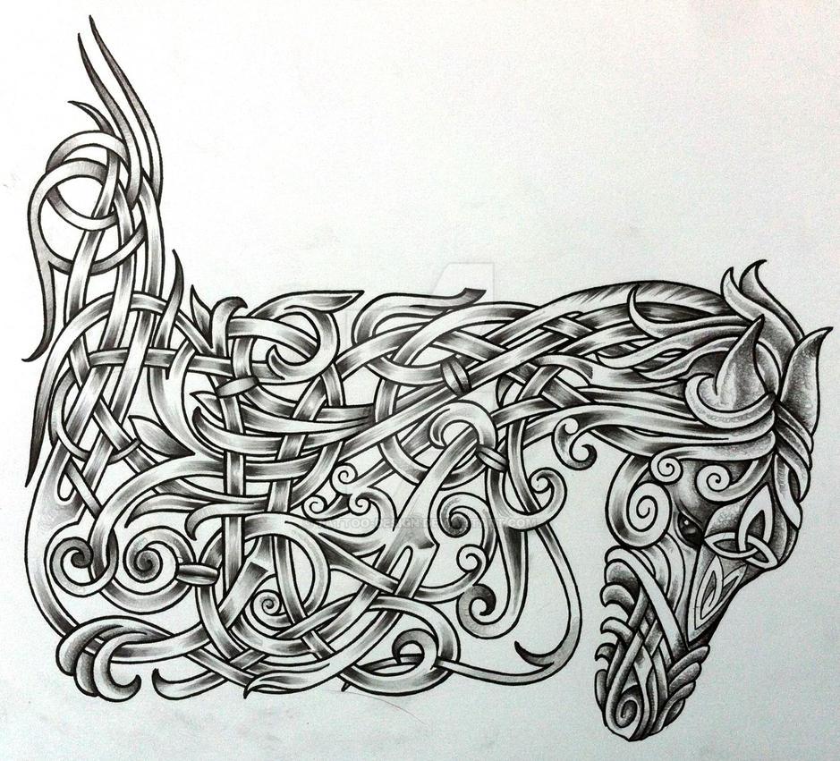b0acdf085 Celtic War Horse by Tattoo-Design on DeviantArt