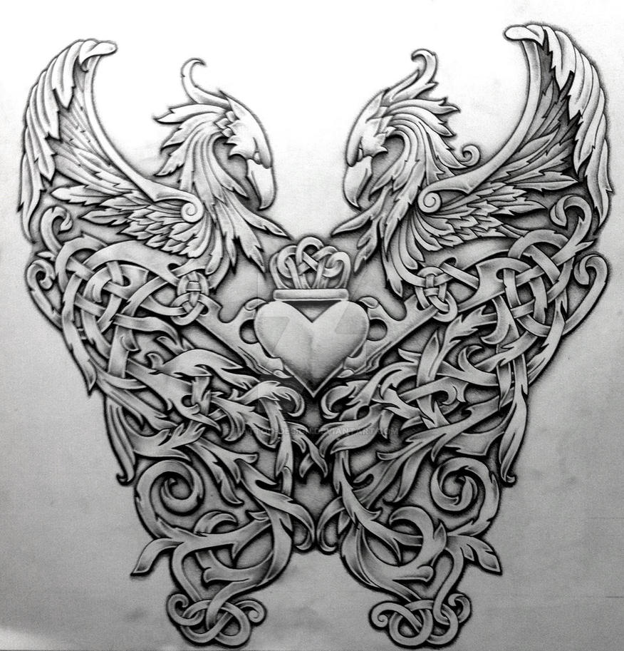 celtic phoenix by tattoo design on deviantart. Black Bedroom Furniture Sets. Home Design Ideas