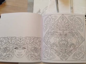 Mystic Tattoo colouring - tattoo outline book by Tattoo-Design