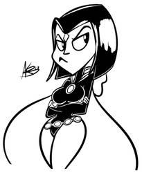 Digital Inktober Day #27: Raven