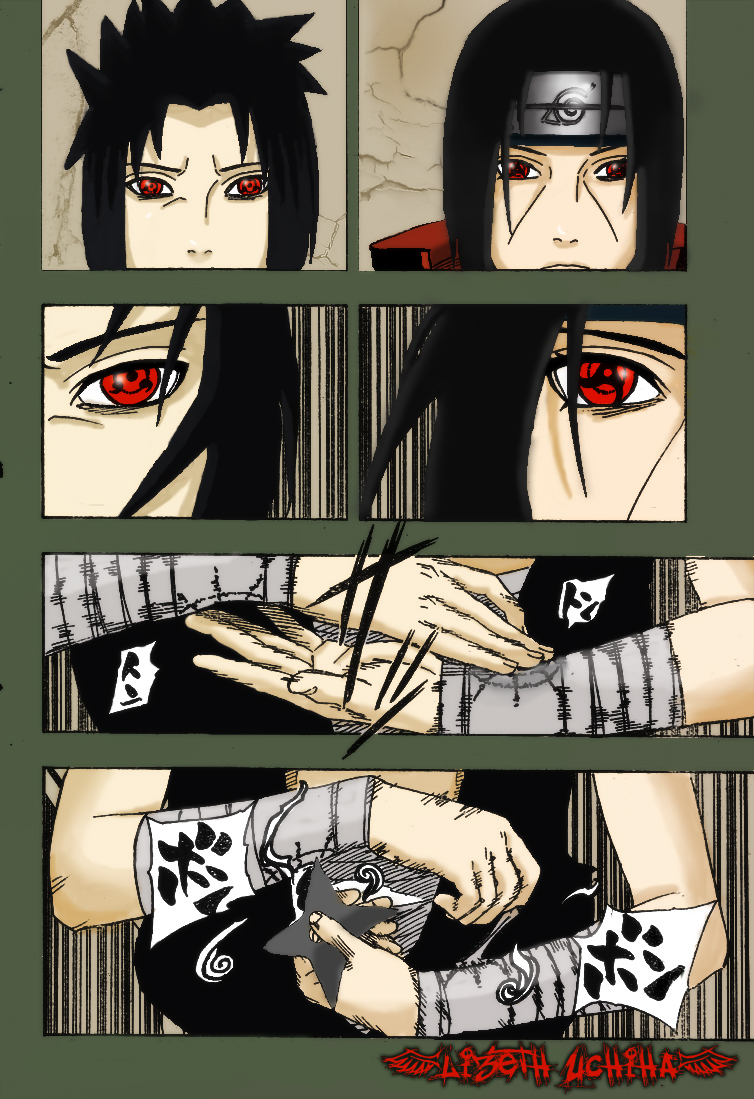sasuke Vs Itachi manga 387 by lizethuchiha on DeviantArt
