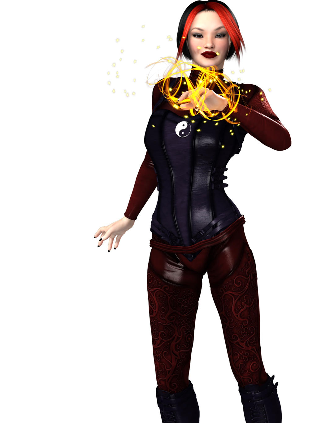 Serennia's Corseted Catsuit by RenderPretender by kenfusion45