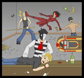 Bar Room Brawl! by kenfusion45