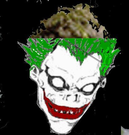 Joker wears Ryuk mask by pagan-skater