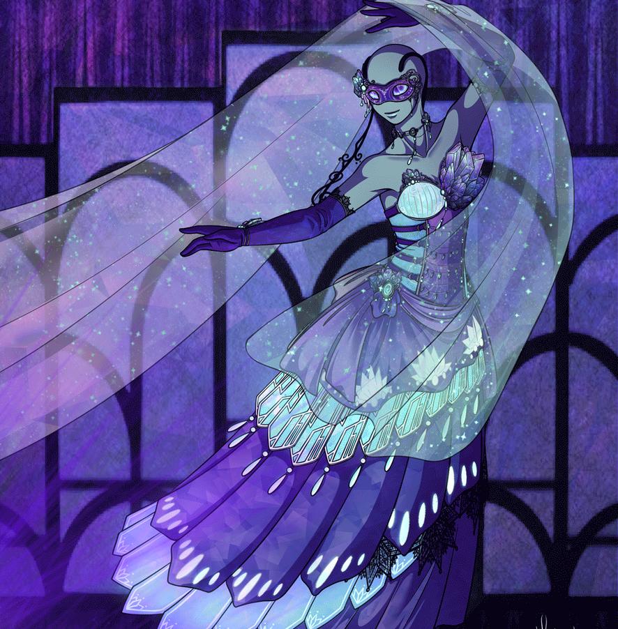 IP-P R3 - Ultraviolet Masquerade by serenadefox