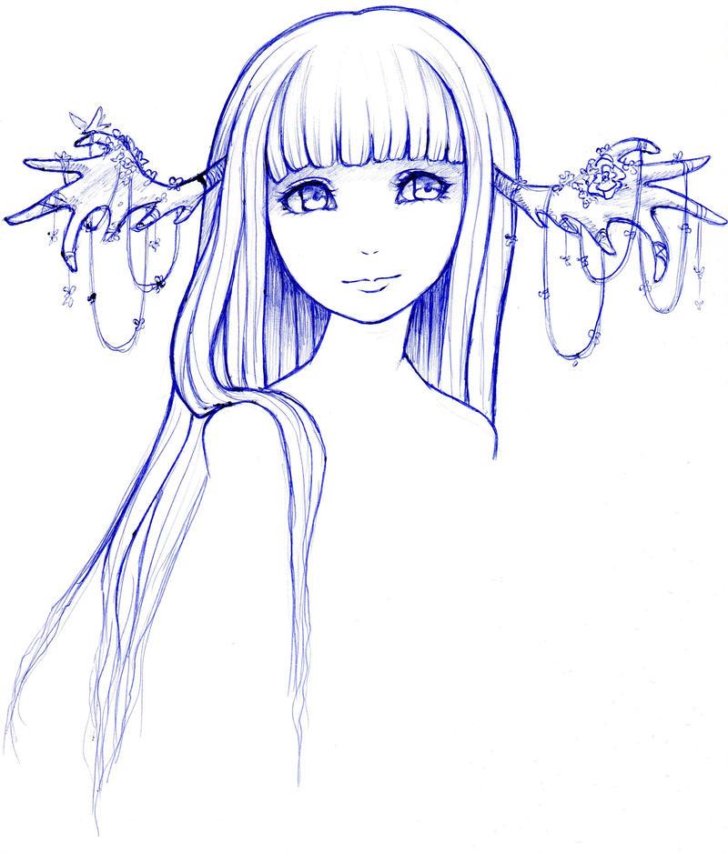 deer lady by Anime-Angelz
