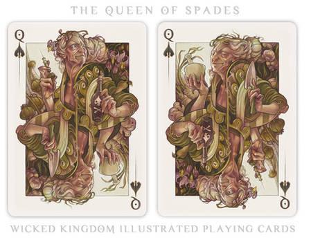 Card Art: The Queen of Spades