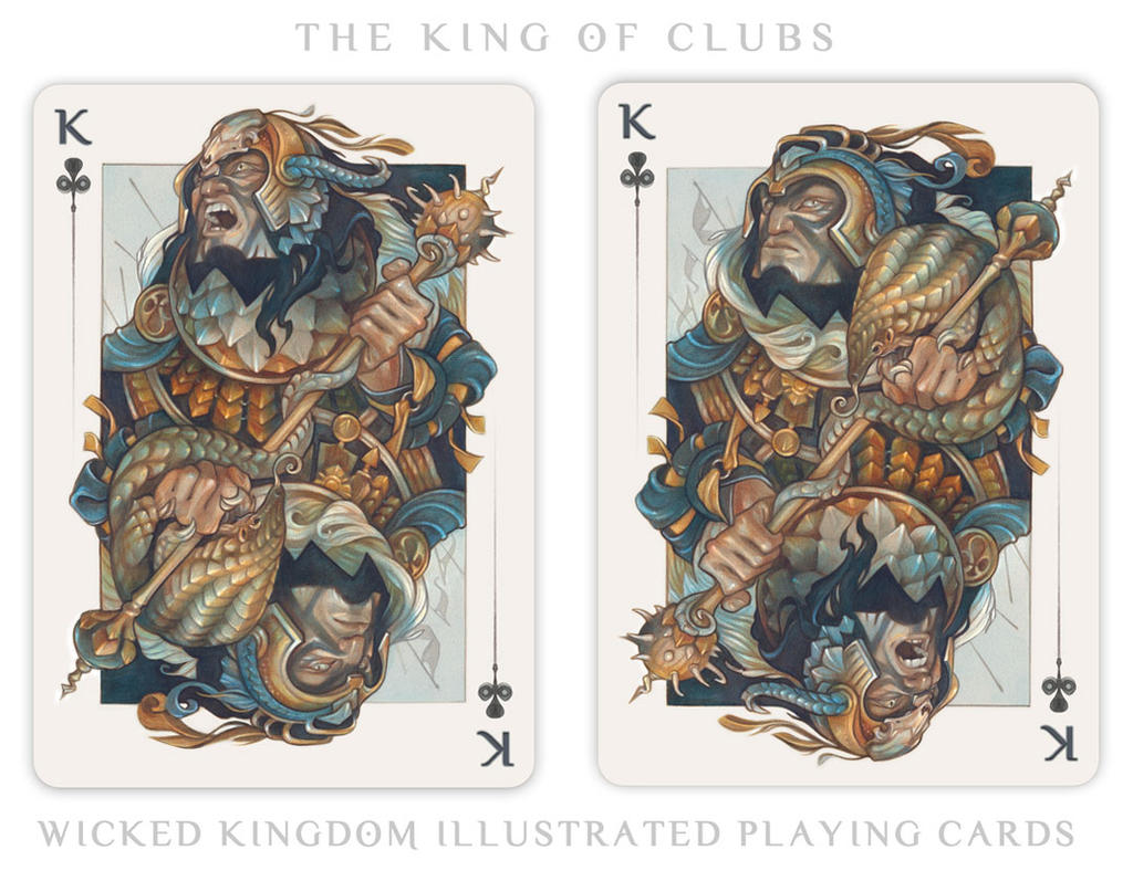 Card Art: The King of Clubs by wylielise