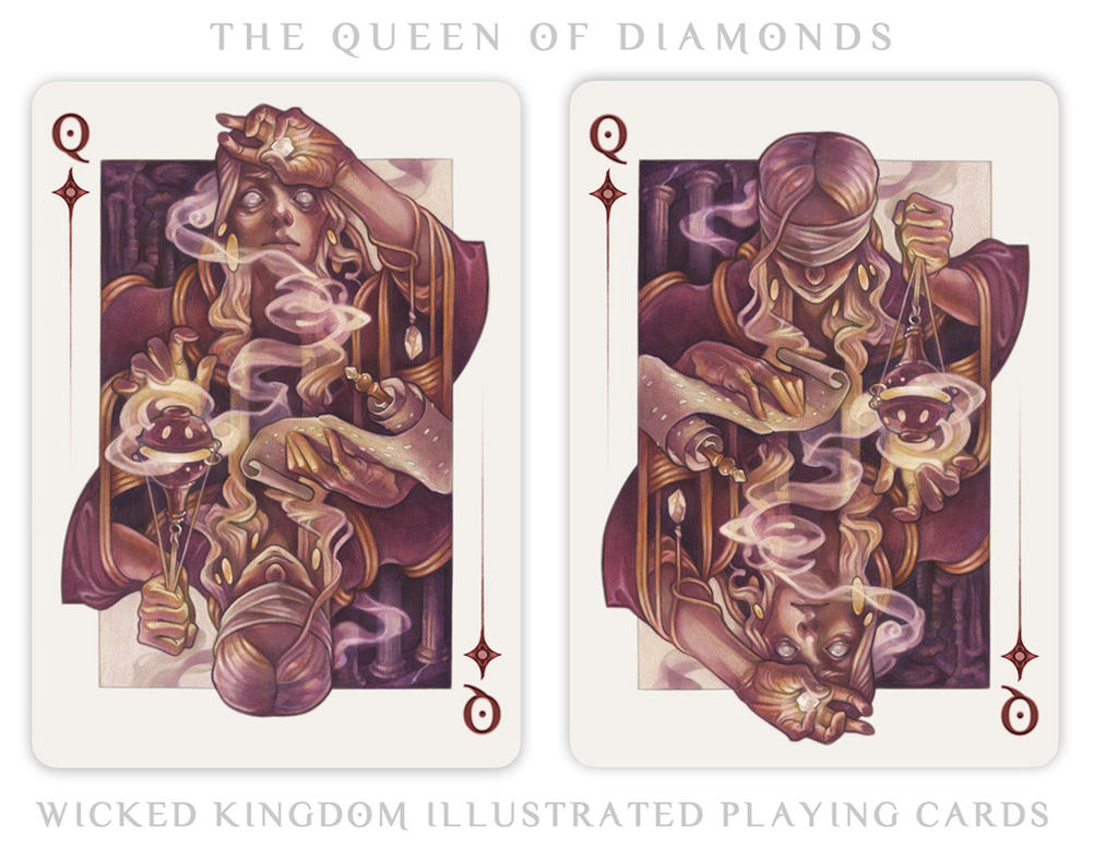 Card Art: The Queen of Diamonds by wylielise