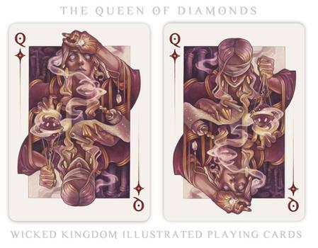 Card Art: The Queen of Diamonds