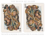 Card Art: The Queen of Clubs
