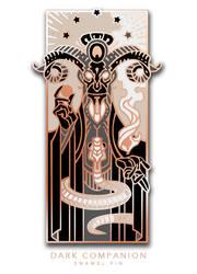 Dark Companion enamel pin