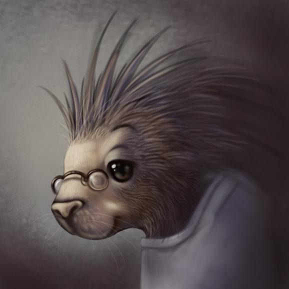 Porcupine head by Silverfox5213