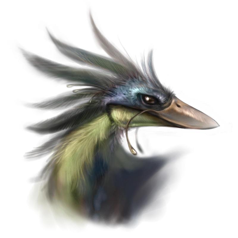 Weird bird creature by Silverfox5213
