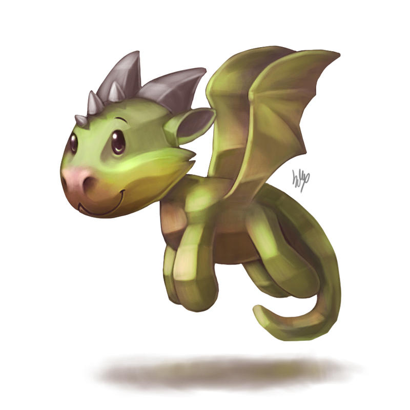 Low poly dragon by Silverfox5213