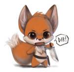 Chibi foxxy warrior