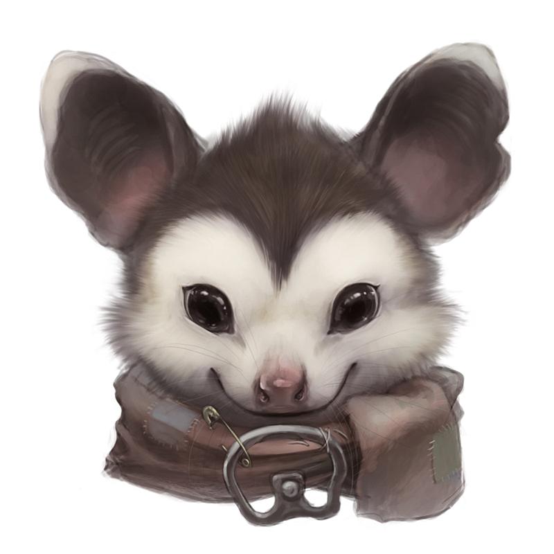 Opossum portrait by Silverfox5213