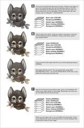 Wolfy portrait tutorial 2