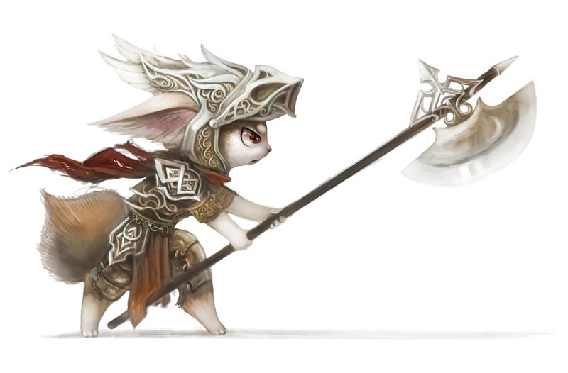 Random halberd warrior by Silverfox5213