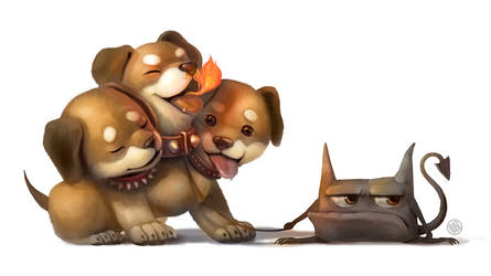 Cerberus pup by Silverfox5213