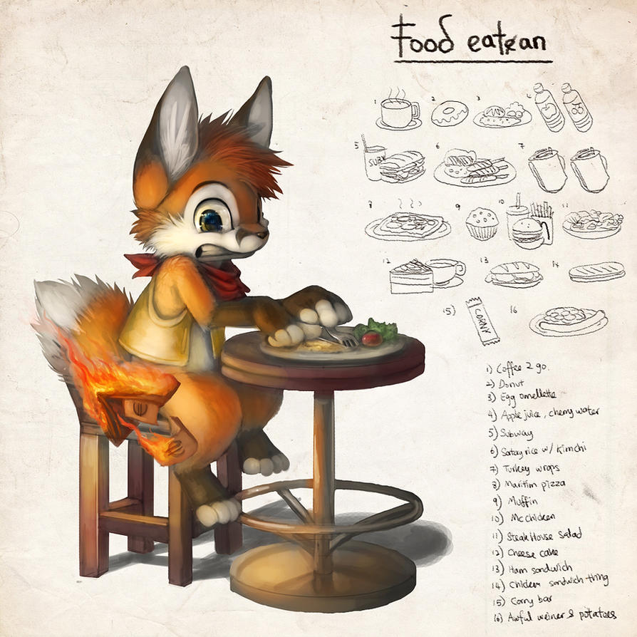 EF Diary: Food by Silverfox5213