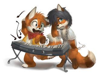 Keyboard lesson by Silverfox5213